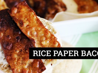 HOW TO MAKE VEGAN BACON [RICE PAPER BACON] | Mary's Test Kitchen