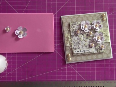 Make easy 3D paper flowers for your cards