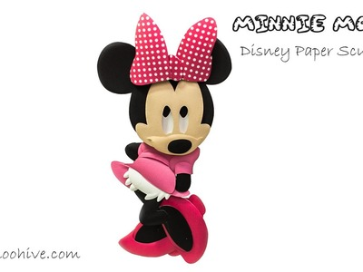 Minnie Mouse DIY Disney paper art