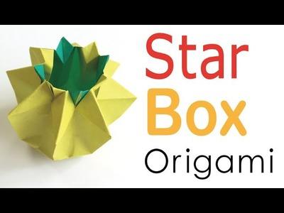 Origami Paper Star Box Pot - Origami Kawaii