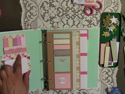 Planner Set Up - DIY - from Target Dollar Spot & Page Flag Booklet