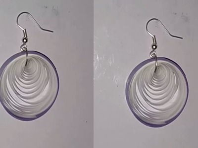 Quilling papers earring - new simple design paper earrings models