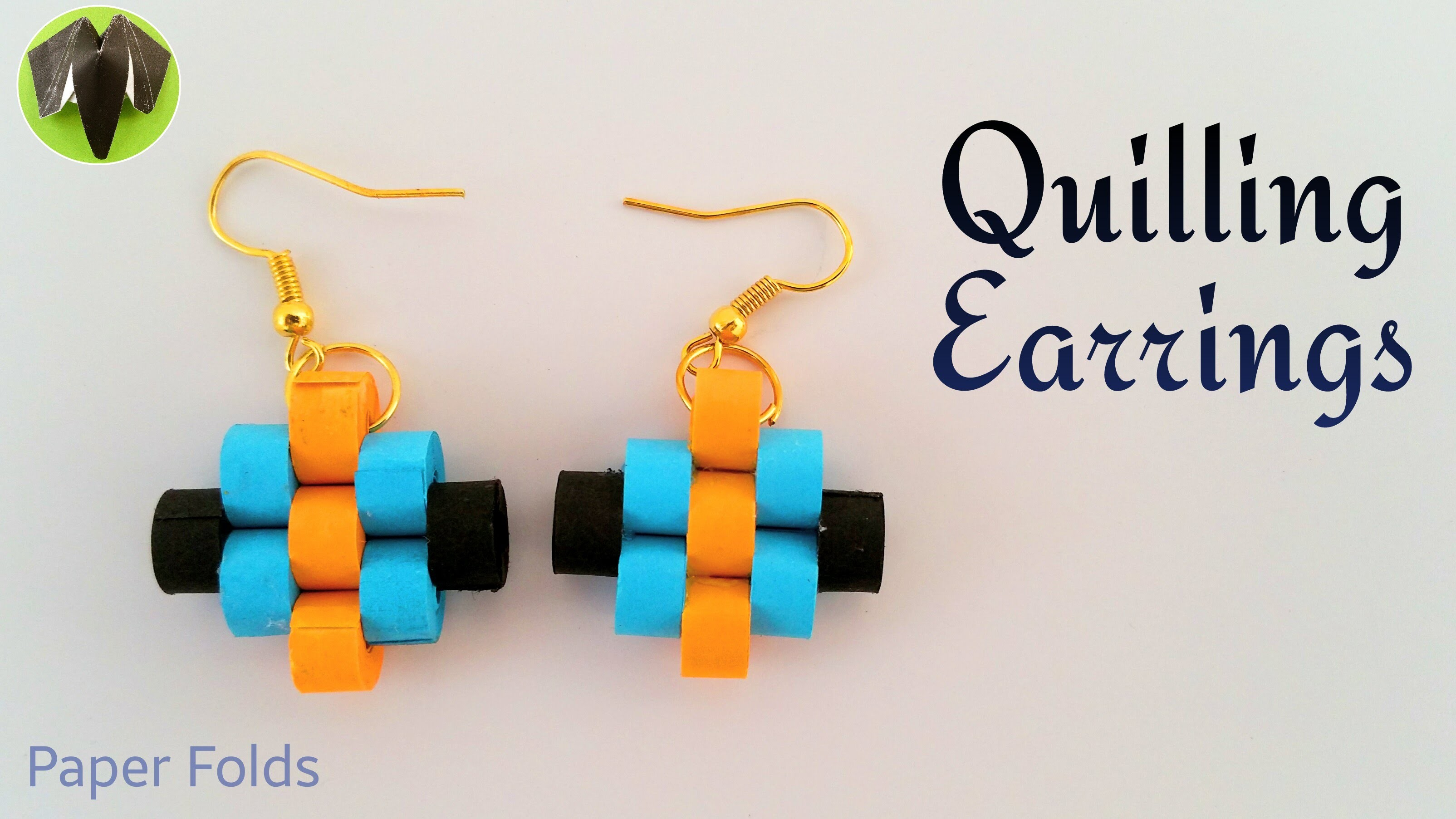 """Tutorial to make a beautiful Paper """"Quilling Earrings"""" (Design 3)"""