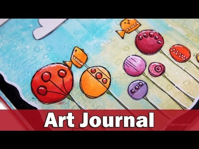 Art Journal layout | guest for PaperArtsy