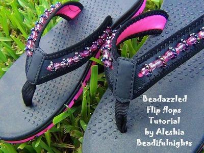 Beadazzled Flip Flops Tutorial