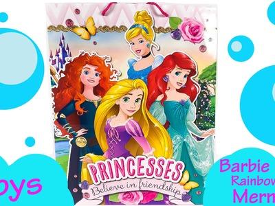 Disney Princess Bag Toy Surprises - Barbie Rainbow Mermaid Puppy in My Pocket Frozen Elsa Blindbags