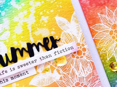 Distress Ink Rainbow Backgrounds