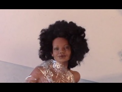 DIY- Black Power Hair Style for Your  Ooak Dolls