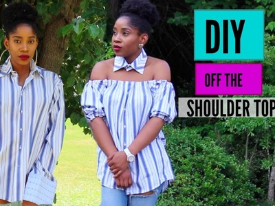 DIY | From Men's Shirt To Off The Shoulder Top|