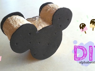 DIY Mickey Mouse Ice Cream Sandwich Squishy | alphabetstory