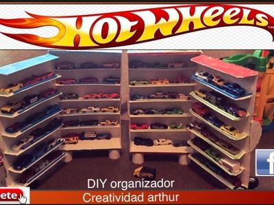 DIY ORGANIZADOR hot wheels DIY ORGANIZER HOT WHEELS