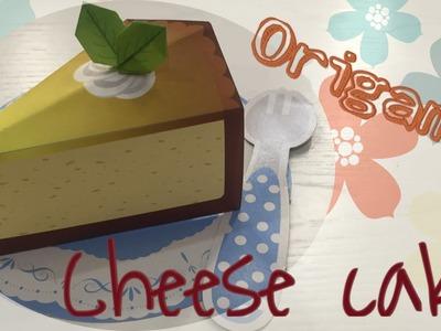 EASY CHESSE CAKE TUTORIAL | CUTE ORIGAMI CAKE