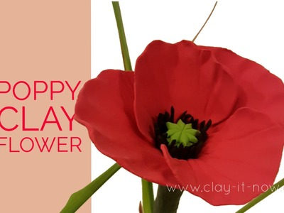 Easy Clay Poppy Flower Tutorial