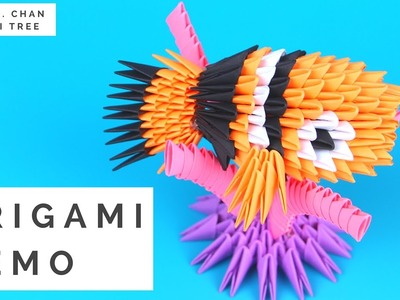Finding Dory Crafts - 3D Origami Nemo Tutorial - Origami With 3D Triangle Pieces