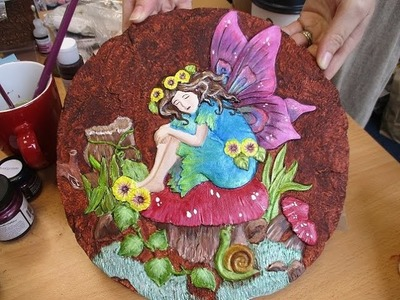 Hand Painted Fairy Plaque Tutorial, Part 2 - jennings644