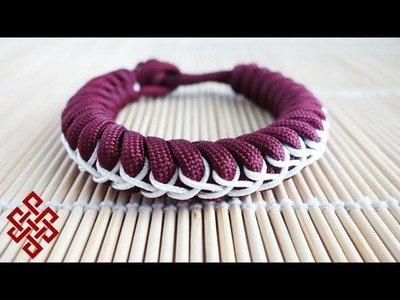 How to Make a Stitched Snake Knot Paracord Bracelet Tutorial