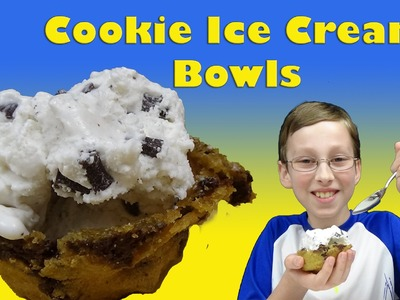 How To Make Chocolate Chip Cookie Ice Cream Bowls DIY Dessert | CollinTV