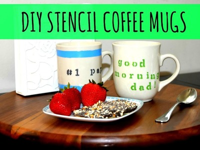 How to Make DIY Stencil Mugs