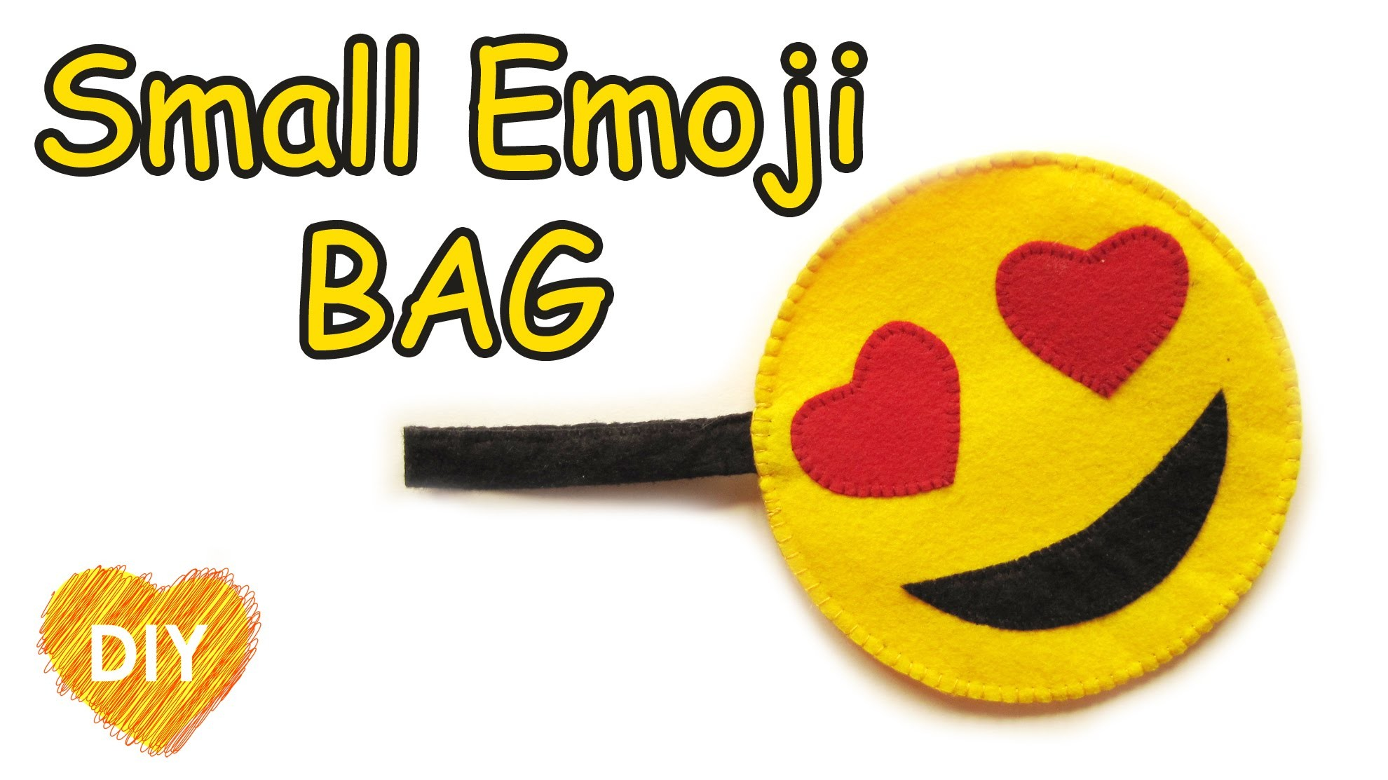 How to sew a Small Emoji bag. Easy DIY.