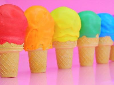 Ice Cream Cone Rainbow Cake Pops