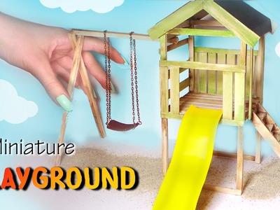 Miniature Playground Tutorial. Dolls.Dollhouse