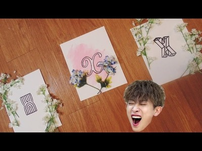 Monsta X All In Kpop Floral Poster Room Decor DIY