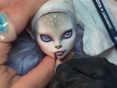 Monster high OOAK Fawn start to finish (part1)