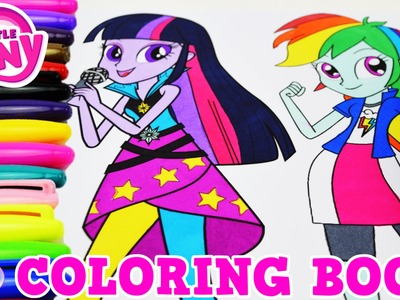 My Little Pony Coloring Book Rainbow Dash Twilight MLPEG Episode Surprise Egg and Toy Collector SETC
