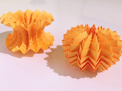 Origami MAGIC BALL - (with zig zag pattern)