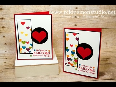 Over the Rainbow Orlando Victim's Relief Fundraiser Card Tutorial featuring Stampin' Up! Products