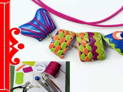 """Polymer Clay Tutorial """"Go Fish"""" Bright and Colorful Fish Pendant #LoveSummerArt"""