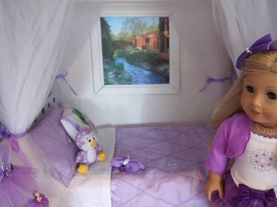 QUICK, EASY, NO SEW DIY CANOPY for AG DOLLS