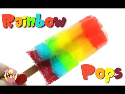 RAINBOW SPRITE JELLO POPSICLES - unicorn ice lolly block pop by Charli's Crafty Kitchen