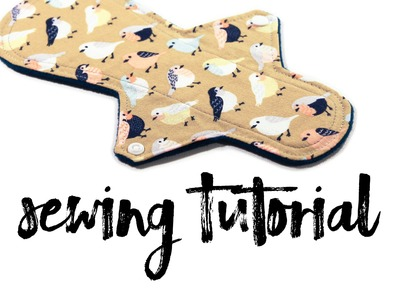 Rounded Cloth Pad Sewing Pattern Tutorial by Versodile