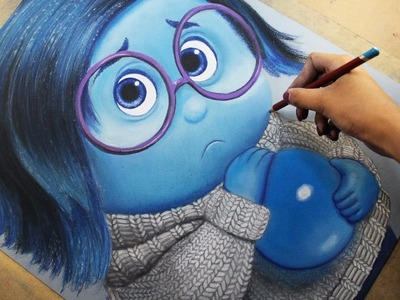 Speed Drawing: Sadness (Inside Out)  [Tristeza. Intensamente] | Diana Díaz
