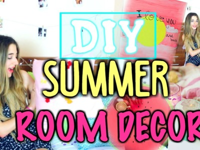 Summer Diy Tumblr Inspired Room decor | How To Decorate You Room Cheap & Easy