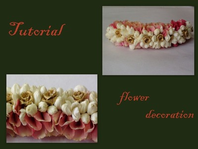 Tutorial of rose petals and jasmine decorations