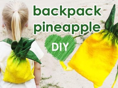 DIY Pineapple Backpack | BACK TO SCHOOL