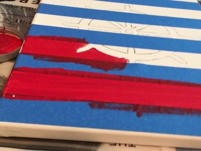 DIY Project: Nautical Canvases for Logan's Nursery