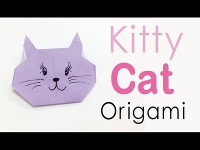 Easy☺︎ Origami Paper Kitty Cat ❤️ - Origami Kawaii〔#135〕