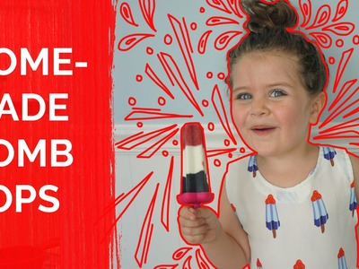 Healthy Food For Kids :Home Made Bomb Pop Popsicles