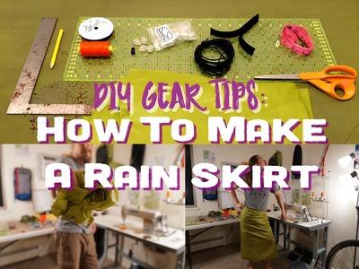 How To Make A Rainskirt (Step By Step) - DIY Gear Tips