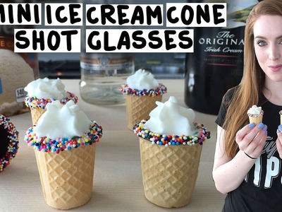 Mini Ice Cream Cone Shot Glasses - Tipsy Bartender