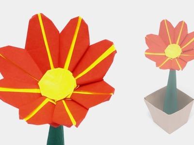 ORIGAMI DAISY FLOWER - Time-lapse (Jo Nakashima)