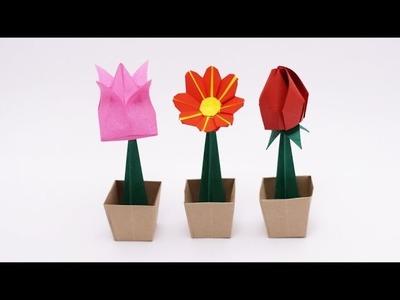 ORIGAMI FLOWER POT (Jo Nakashima)