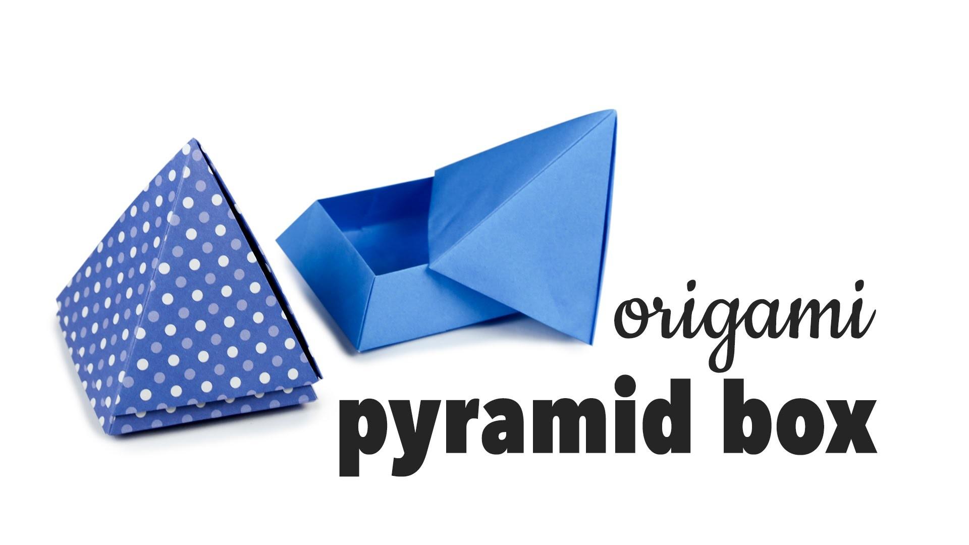 Origami Pyramid Box Tutorial ♥︎ DIY ♥︎ Cute Gift Box ♥︎