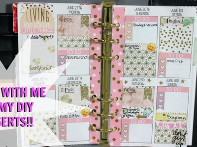 PERSONAL SIZED PLAN WITH ME! Ft. DIY VERTICAL INSERTS && MICHALES RECOLLECTIONS PLANNER