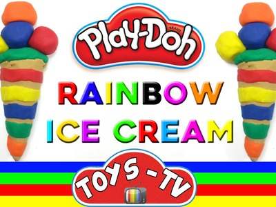 Play Doh Make Rainbow Ice Cream DIY With Peppa Pig & Elsa & Disney Cars