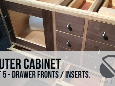 005 - Router Table build - Part 5 - Drawer Fronts. Inserts. Cupboard Door