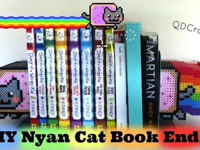 3D Nyan Cat Perler Bead Book Ends Idea